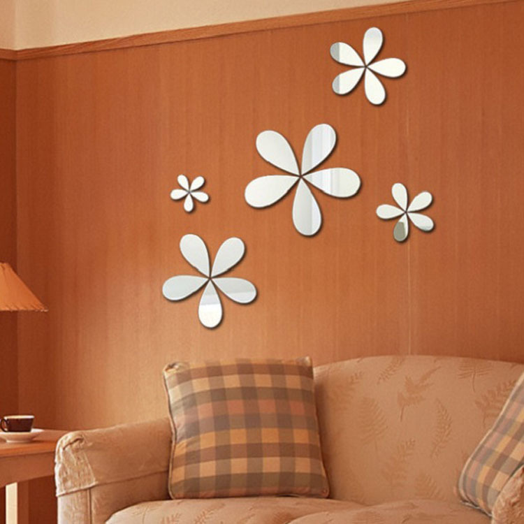 Factory Outlets D Acrylic Diy Wall Stickers Crystal Modern Design Luxury Mirror Contact Paper Bedroom Living