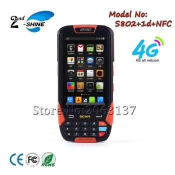 Lecteur NFC sans fil Bluetooth Mobile Android 1d lecteur de codes à barres Wifi 4G Pda portable, 2G Ram et 16G Rom
