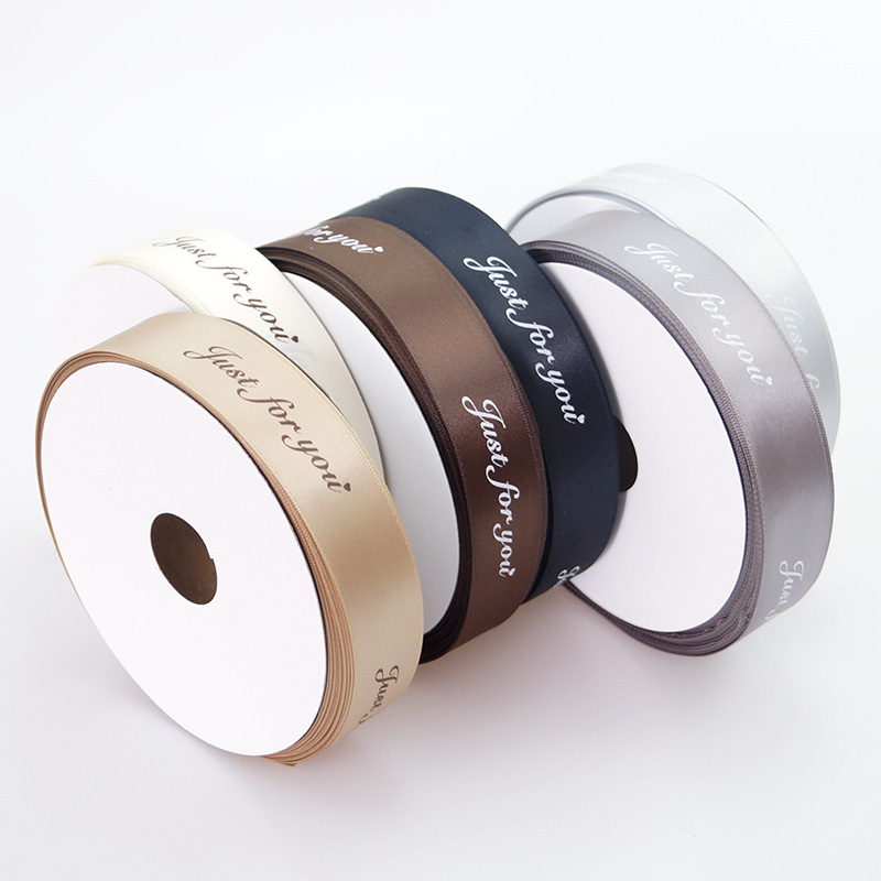 Free Shipping 25mm Polyester Satin Customized Ribbons Just For You For Decoration 50Yards/lot