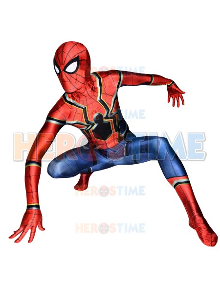 Spider-Man Homecoming Costume Superhero Iron Spiderman Costume Fullbody Zentai Suit For Adult/Kids