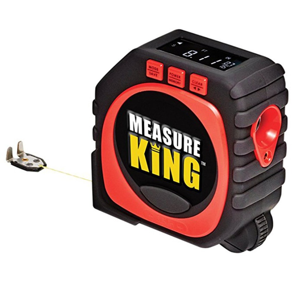 2018 HOT Measuring Tape Black 3 in 1 Measure Tape King Roll Cord Laser Mode Drop Shipping Wholesale new 3 in 1 digital tape measure string sonic roller mode laser tool