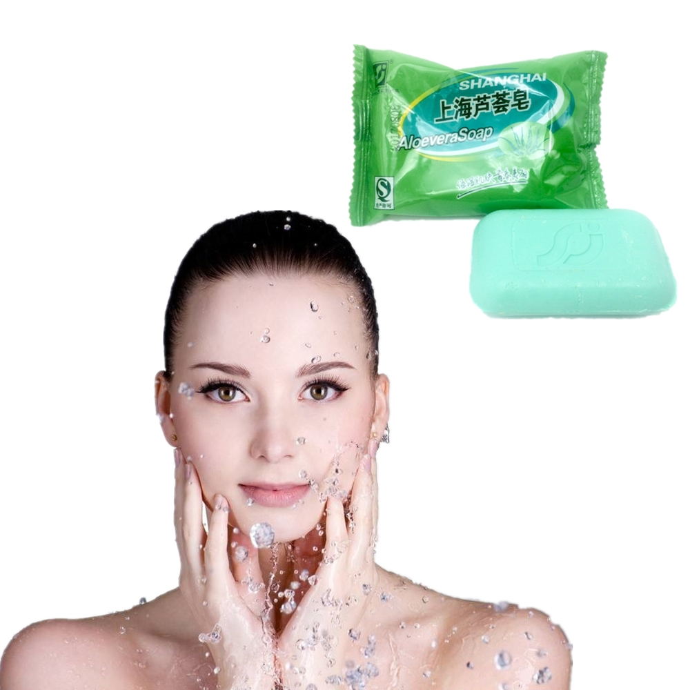 Natural ALOEVERA Body Whitening Soap Beauty Ruddy Areola Active Enzyme Soap Remove Odor Underarm Body Whitening