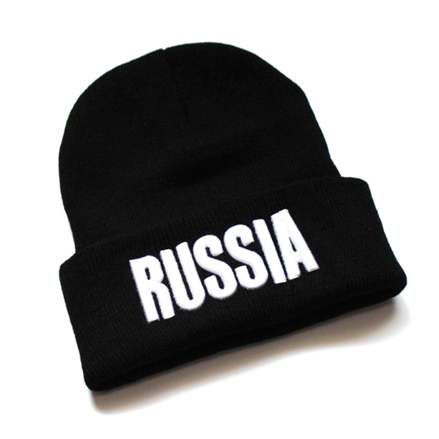 c16a0831844 Unique RUSSIAN Customized Winter Hat for Women Men High Quality Letter Embroidery  Cap Knitting Warm Skullies Beanies