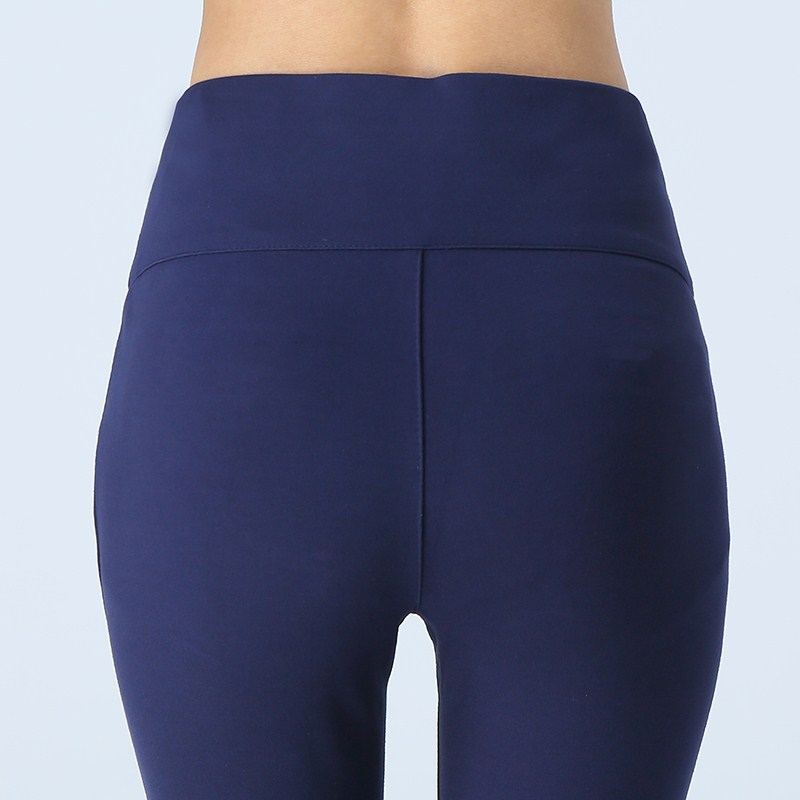 WKOUD Winter Leggings Women Plus Size High Waist Stretch Thick Legging Solid Skinny Warm Velvet Pencil