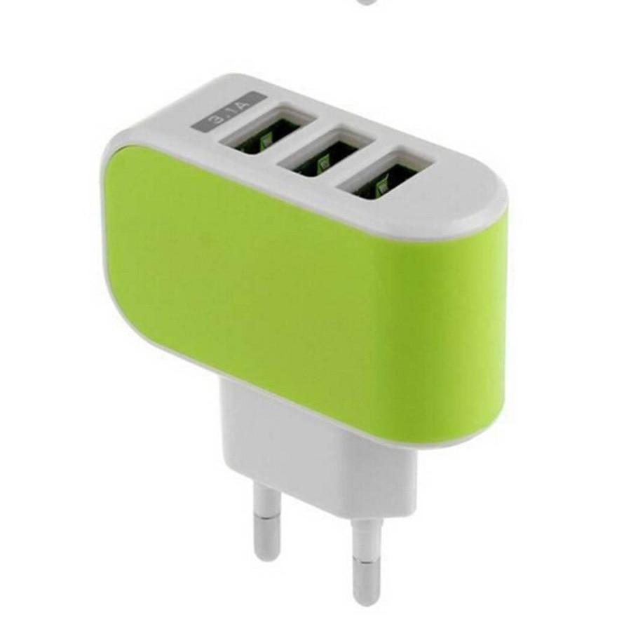 BARU 3 Port USB Charger 3A Pengisi Daya Ponsel Portabel Travel USB - Aksesori dan suku cadang ponsel - Foto 5