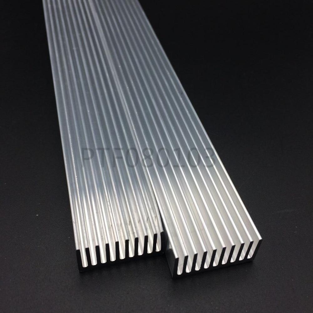 High Power LED aluminium Heatsink 300mm * 25mm * 12mm untuk 1 W, 3 W, 5 W led emitter dioda