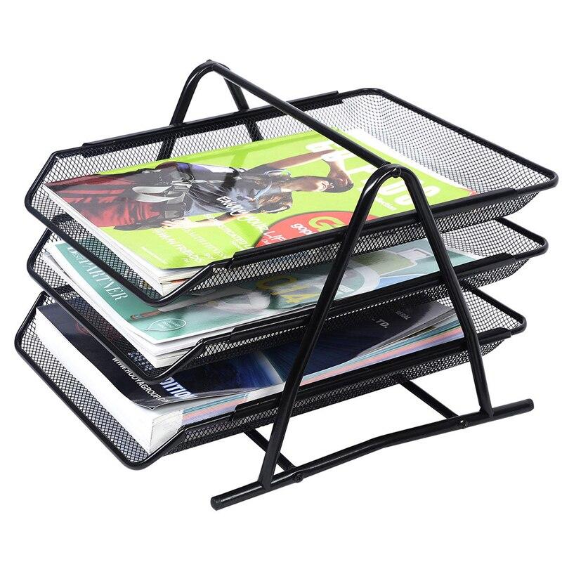 MIRUI A4 organisateur de papier Document fichier lettre livre Brochure plateau de remplissage Rack étagère support en métal treillis métallique support de stockage
