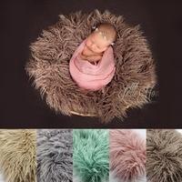 Newborn Props Faux Fur Basket Filler Stuffer Photo Props Baby Fotografia Photography Backdrops Background Blanket Fleece