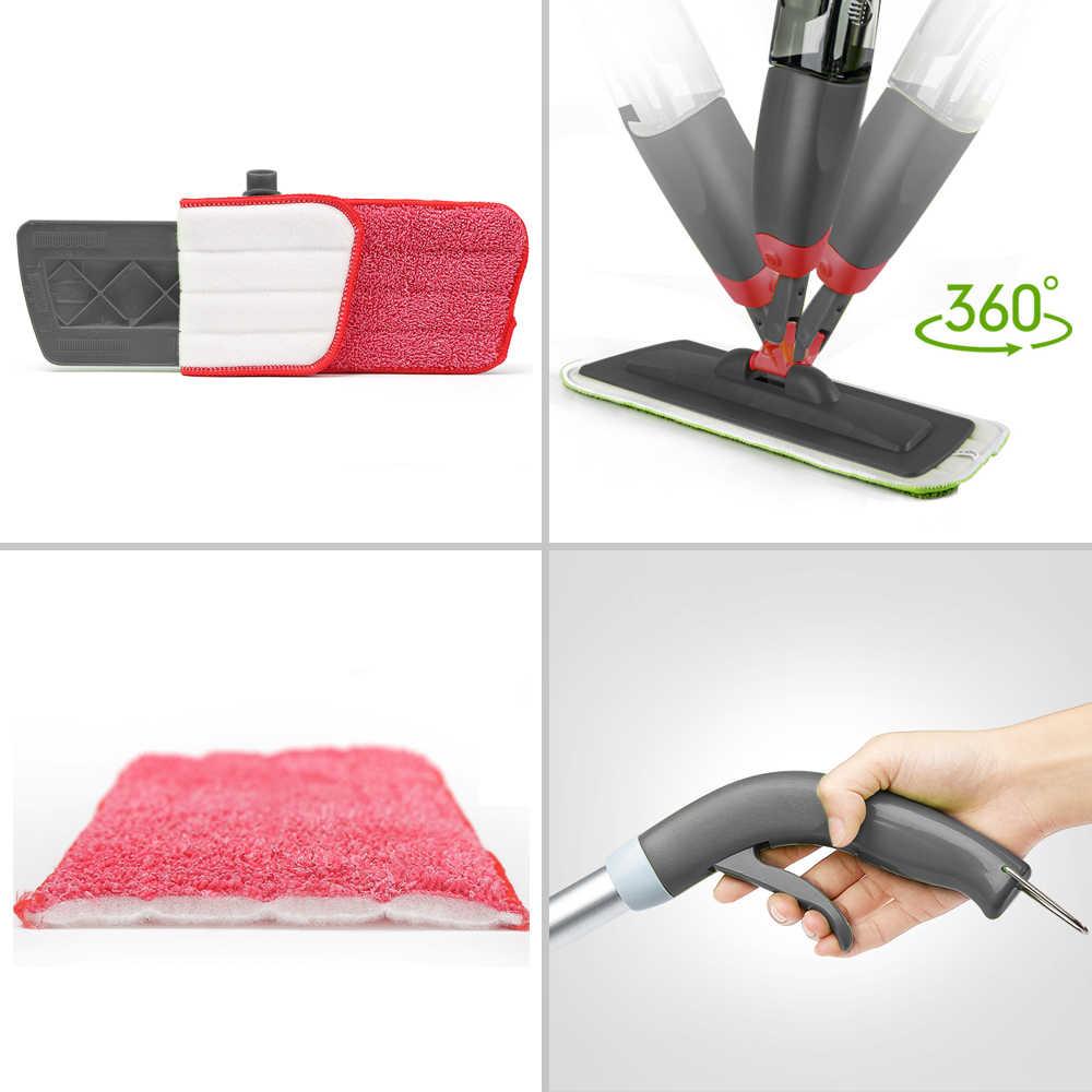 360 درجة دوارة رذاذ ممسحة المعادن اليد حامل أداة أداة ستوكات ممسحة تنظيف المطبخ القماش