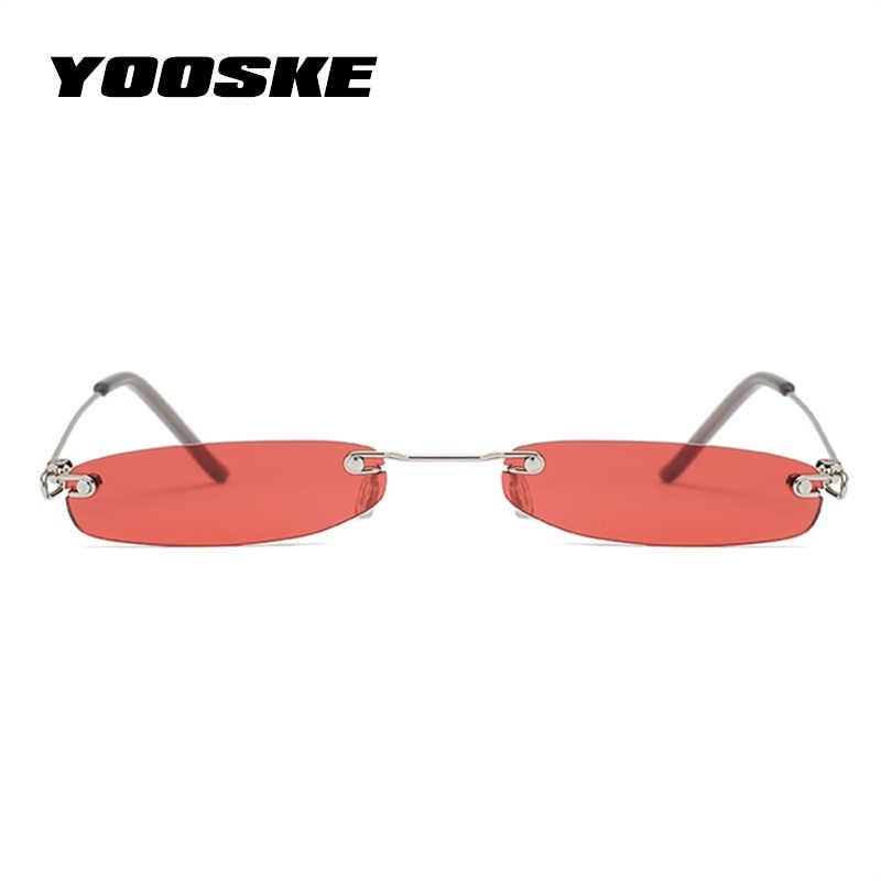 1c1dfc4c9c ... YOOSKE mujeres pequeñas gafas de sol hombres pequeñas gafas de sol  estrechas Retro rectángulo femenino ultraligero ...