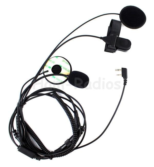 bilder für Motorrad helm headset mikrofon für icom ic-f21 ic-f26 ic-iv8 ic-f3s radios mit finger ptt neue