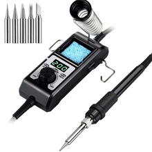 Yihua 908D-Ii 60W Soldering Iron Station Adjustable Temperature Detachable Bracket Portable Electronic Solde