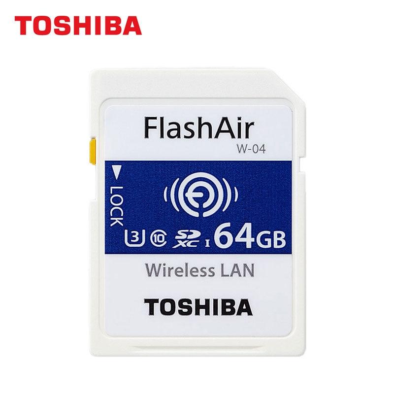 TOSHIBA WIFI SD Card 16GB 32GB SDHC FlashAir 64GB SDXC UHS I U3 Class10 W 04