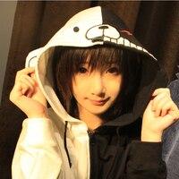 Adults Anime Dangan Ronpa Monobear Monokuma Black White Bear Cosplay Costume Jacket Hoodie Zipper Cardigan Hooded Coat Girl Boy