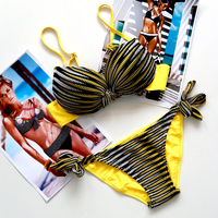 2016 Summer New Bikini Sexy Swimwear Women Bench Swimsuit Bathing Suit Push Up Low Waist Brazilian
