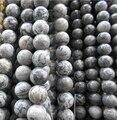 Forma Redonda al por mayor Mapa de Piedra Gris Cuentas de Piedras Naturales Para La Fabricación de Joyas Pulsera DIY Material 4/6/8/10/12mm Línea de 16''