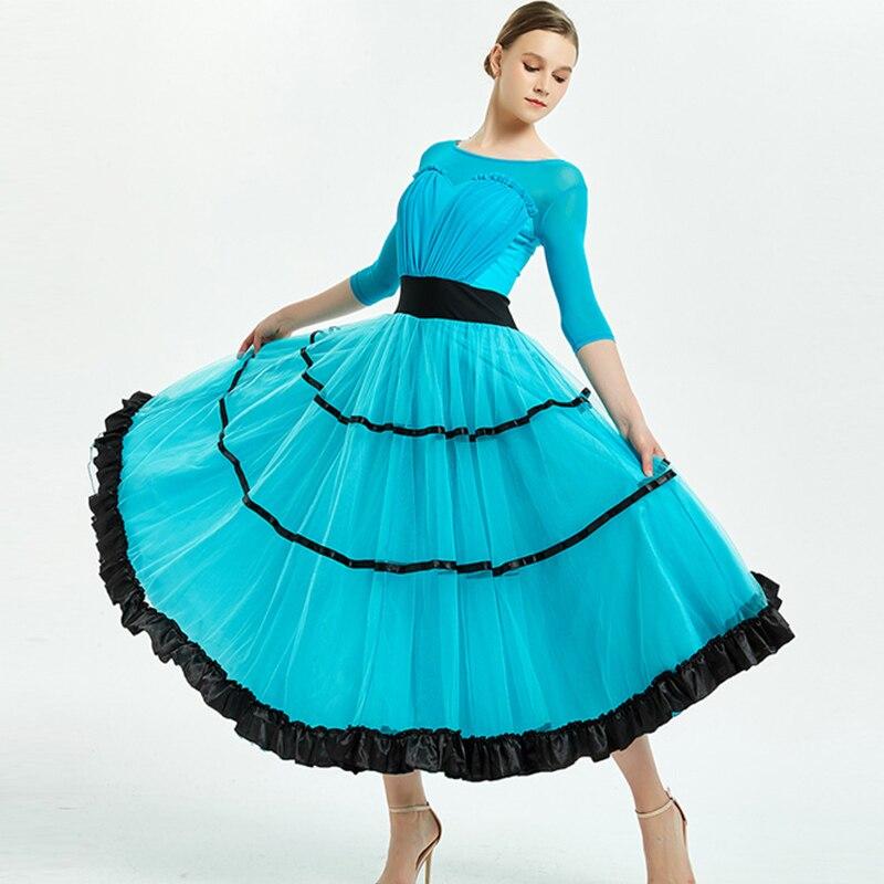 Ballroom Dance Competition Dresses Sexy Backless Standard Dancing Dress Women Waltz Modern Flamenco Performance Wear Lady DN3596