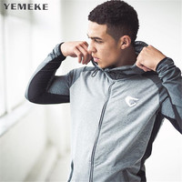 YEMEKE 2017 Muscle Doctor Men New Autumn Winter Loose Coat Leisure Stylish Fashion Gyms Hoodies Of