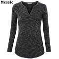 Long Sleeved Basic Cotton T-Shirt Women V-Neck Casual Shirt Fashion 2017 Plus Size Women Tunic Tops camisetas manga larga mujer