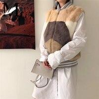 Подлинная норки жилет Для женщин осень натуральным меховые жилеты зима жилет Женская Мода вся кожа норковый меховой жилет
