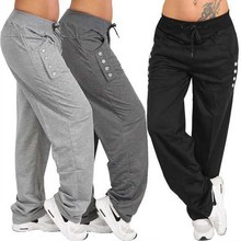 Hip Hop Sweat Pants for Men and Women Cotton Sport Pants Running Joggers Trousers Elastic Waist Sweatpants Training Track Pants hip hop patchwork chains pants women track elastic high waist pants female black capris embroidery letter trousers