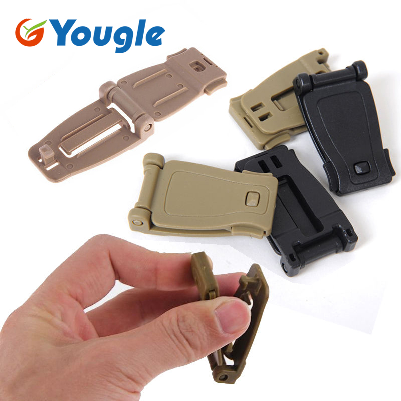 10 Pcs 30mm Molle Webbing Strap Tactical Backpack Bag Connecting Buckle Clip Carabiner Clasp EDC