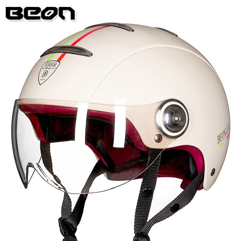 BEON Scooter Motorcycle Helmet Half Face Vintage Helmet Moto Casque Casco motocicleta Capacete Vespa Helmets Light