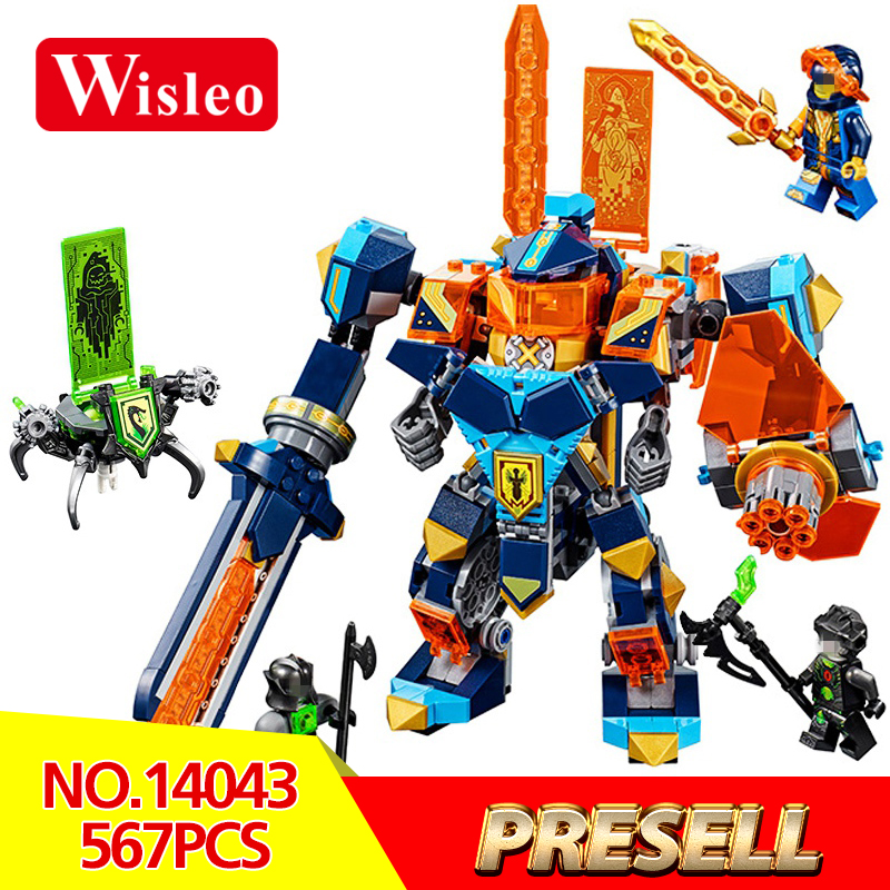 Wisleo 14043 567Pcs Classic Movies Series Knights of the future high-tech magic armored Ares LegoINGlys 72004 Building Blocks