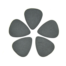 Lots of 100pcs Solid Black 1mm Heavy Gauge Delrin Guitar Bass Picks Plectrums