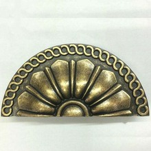 Drawer knob pull bronze kitchen cabinet handles pull antique distress antique brass cap shell antique furnituredecorate