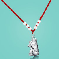 Women S 925 Sterling Silver Pendant Necklaces Ethnic Animal Pendant Design Lady Rope Chain Charm Jewelry