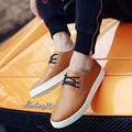 Mens Lace-up Cheap Brethable Pigskin Genuine Leather big sizes(7 -17)flat with single designed casual Loafer summer style Winter