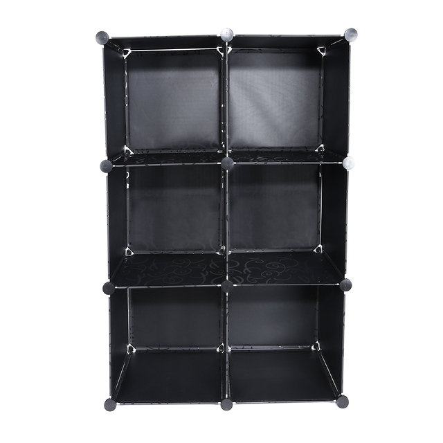 DIY Assembled 8 Cube Bookcase Bookcase Plastic Display Shelves Storage  Bookshelf Storage Holders Four Layers House