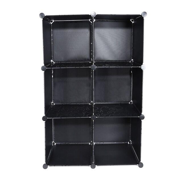 diy gemonteerd 8 cube boekenkast boekenkast plastic display planken opslag boekenplank opslag houders vier lagen huis