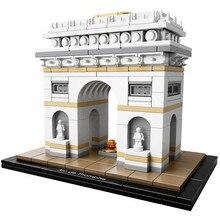 Arquitetura arco do triunfo coleção presente blocos de construção kit cidade tijolos clássico modelo crianças brinquedos para crianças presente