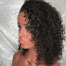 Curly Human Hair Wig Short Lace Front Wigs For Black Women 130% Lace Frontal Wig Remy Wigs Bleached Knots With Baby Hair