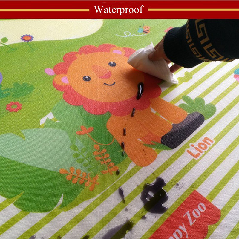 CM CM Baby Play Reversible Crawling Mat Foam Puzzles Carpet Kids Rug Animal Developing Pad