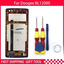 Novo Display LCD de Tela de Toque original Para Doogee BL12000 pro Digitador Assembléia Com a Substituição do Quadro Peças + Desmontar Ferramenta