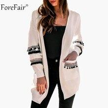 Forefair borlas suelta suéter capa de las mujeres 2018 otoño caliente  Outwear invierno hizo punto la b145f95a841