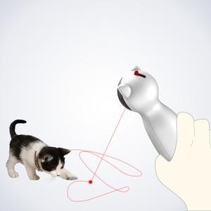 Image 3 - Creative Cat Pet LED Laser Funny Toy Smart Automatic Cat Exercise Training Toy Multi Angle Adjustable USB Charge