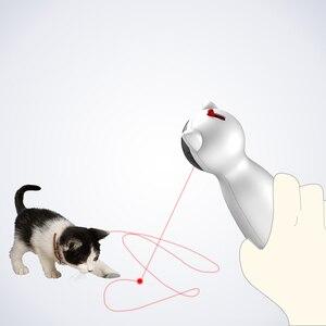 Image 3 - الإبداعية القط الحيوانات الأليفة LED ليزر مضحك لعبة الذكية التلقائي القط ممارسة لعبة تدريب متعددة زاوية قابل للتعديل USB تهمة