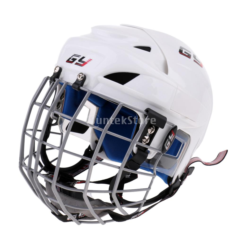 Professional CE Approved Sport Ice Hockey Helmet with Cage Combo Face Shield Mask Protector Universal for Kids Adult XS S M L XL adjustable pro safety equestrian horse riding vest eva padded body protector s m l xl xxl for men kids women camping hiking