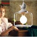 Industrial do vintage luz pingente de pássaro de vidro máscara de lâmpada E27 pingente lâmpada bar lâmpadas de Edison lâmpada