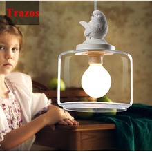 Industrial vintage pendant light original bird designer glass lamp shade E27 pendant lamp holder loft bar lamps Edison bulb