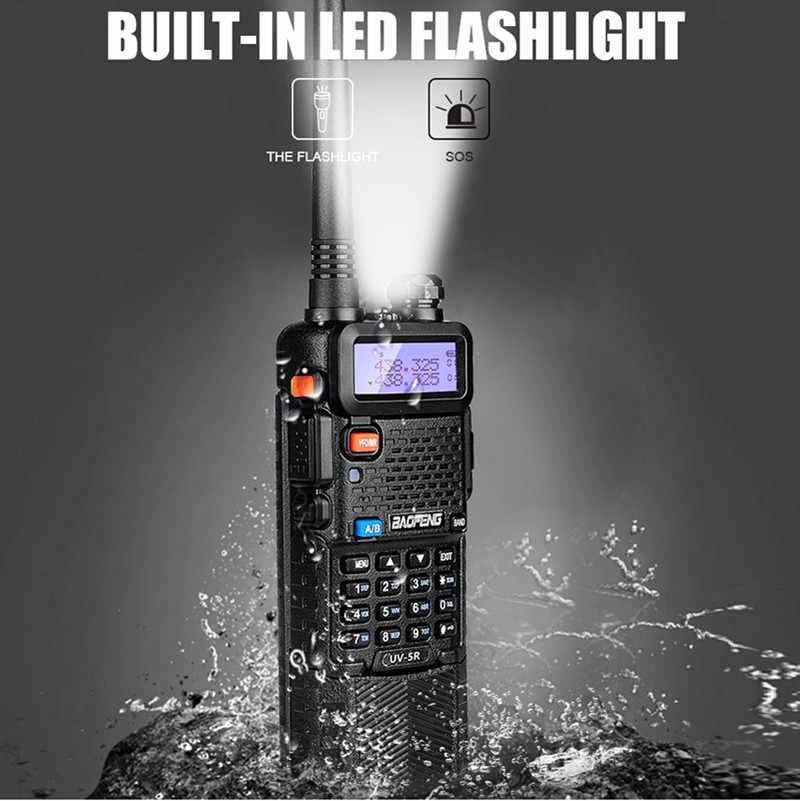 BAOFENG UV-5R قوية أجهزة اتصال لاسلكية 8 W 3800 mAh المزدوج الفرقة VHF UHF HF جهاز الإرسال والاستقبال اللاسلكي هام إنترفون راديو محطة الارسال