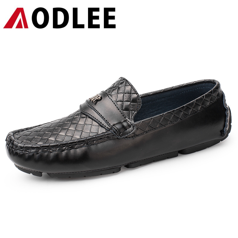 AODLEE 2017 NEW High Quality Genuine Leather Men Shoes Soft Moccasins Men Loafers Fashion Brand Men Flats Comfy Driving Shoes 2017 new brand breathable men s casual car driving shoes men loafers high quality genuine leather shoes soft moccasins flats