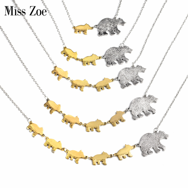 Miss zoe mama bear and cub animal pendant necklace gold silver miss zoe mama bear and cub animal pendant necklace gold silver mother kids love fiercely protective aloadofball Image collections