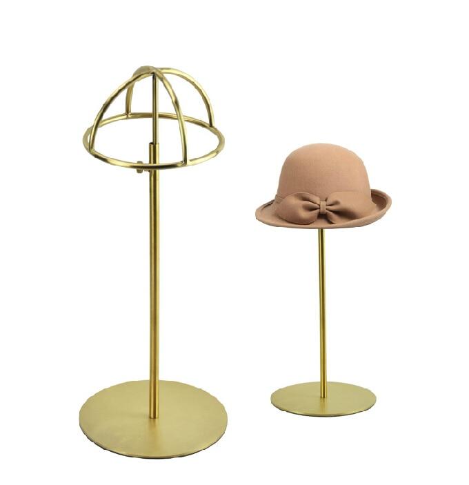 10pcsMatte Titanium metal cap display bracket polishing cap display display bracket cap Free shipping morat cap roig