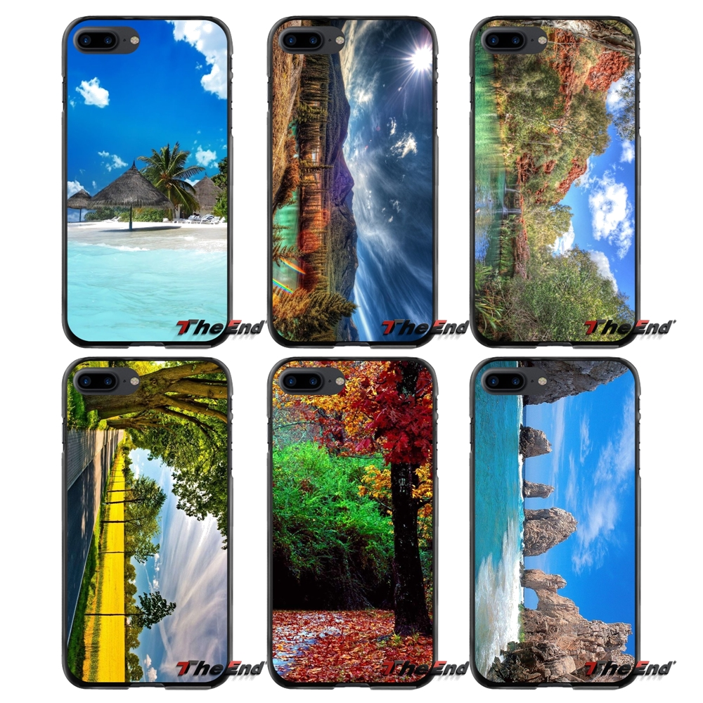 Natural Landscape Accessories Phone Shell Covers For Apple iPhone 4 4S 5 5S 5C SE 6 6S 7 8 Plus X iPod Touch 4 5 6