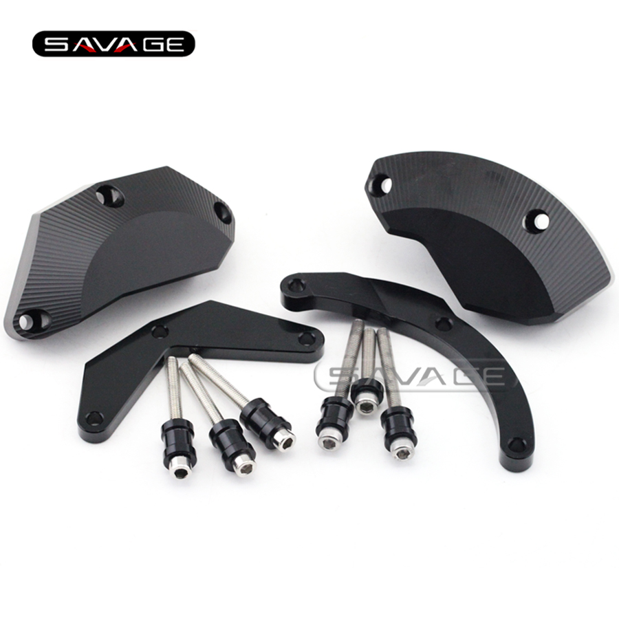 For KAWASAKI NINJA ZX-10R ZX10R 2011 2012 2013 2014 Motorcycle Engine Case Guard Cover Frame Slider Crash Protector Set Black kemimoto radiator guard cover grille protector for kawasaki ninja zx 10r zx 10r 2008 2009 2010 2011 2012 2013 2014 zx10r